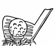 Coloring pages Golf ball