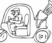 Coloring pages Golf car