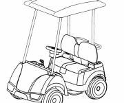 Coloring pages Golf cart