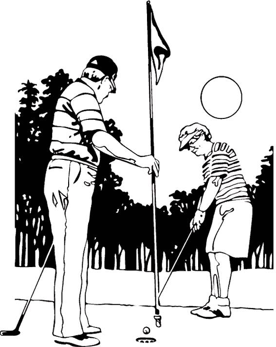 Free coloring and drawings Golf coloring Coloring page