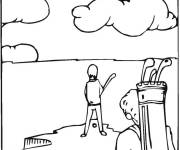 Coloring pages Golf field