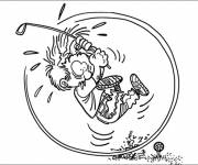 Coloring pages Golf humor