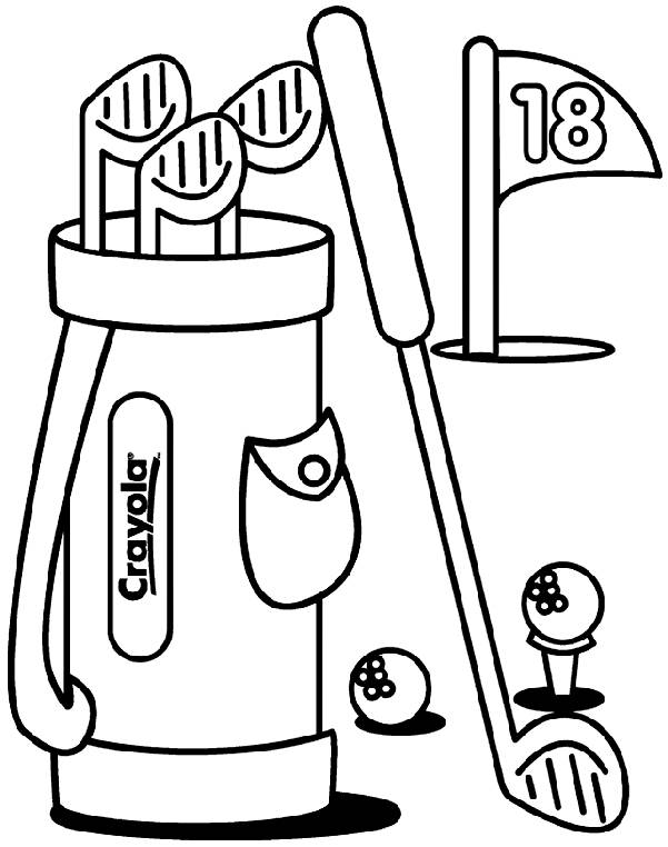 Free coloring and drawings Golf in color Coloring page