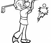 Coloring pages Golfer not professional enough