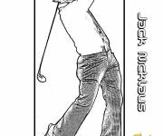 Coloring pages Jack Nicklaus Golfer