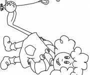 Coloring pages little golfer