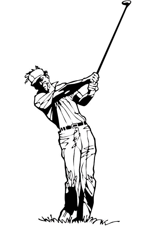 Free coloring and drawings Maternal golf Coloring page