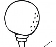 Coloring pages Mini Golf
