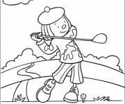 Coloring pages Outdoor golfer