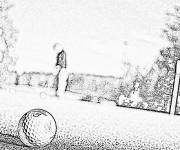Free coloring and drawings Realistic golf Coloring page