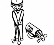 Free coloring and drawings Vector golf Coloring page