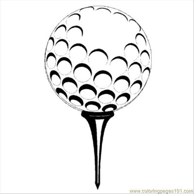 Free coloring and drawings Vector golf ball Coloring page