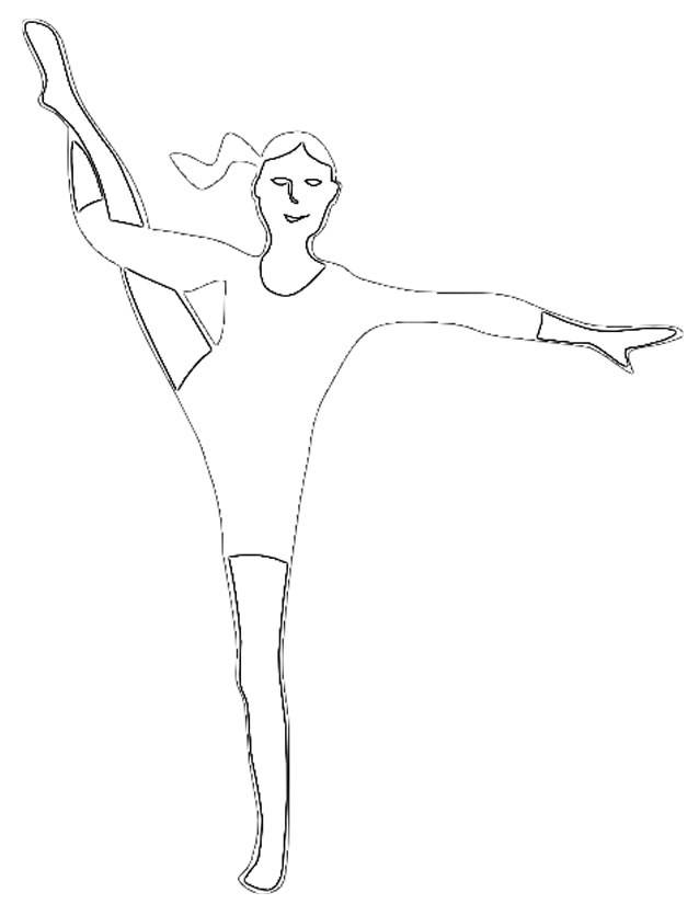 Free coloring and drawings A flexible gymnast Coloring page