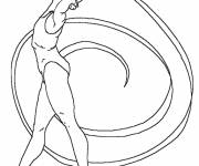 Free coloring and drawings Stylized rhythmic gymnastics Coloring page
