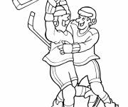 Coloring pages Goal Joy Ice Hockey