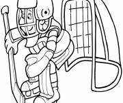 Coloring pages Goalie Ice Hockey