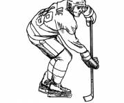 Coloring pages Hockey player