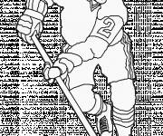 Coloring pages Hockey player in attack