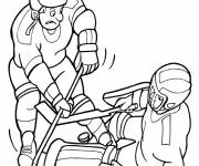 Coloring pages Ice Hockey and The Confrontation