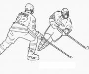 Coloring pages Ice hockey in black