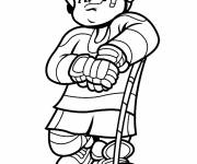 Coloring pages Little Ice Hockey Player