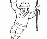 Coloring pages Merry Hockey Player