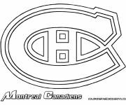 Coloring pages Montreal Canadian Hockey Team