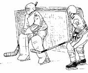 Free coloring and drawings Pencil hockey Coloring page