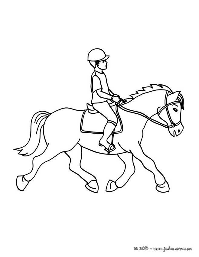 Free coloring and drawings A gallop race Coloring page