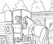 Coloring pages A racehorse