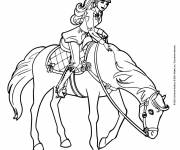 Coloring pages Barbie goes horse riding