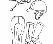 Coloring pages Horse Riding Equipment