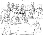 Coloring pages Horse riding for children