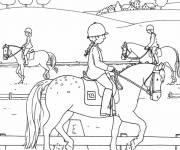 Coloring pages Horse Trail