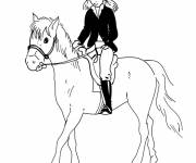 Coloring pages Maternal riding