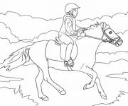 Coloring pages Outdoor riding