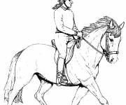 Coloring pages Rider on Horse
