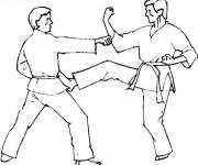Coloring pages Judo attack