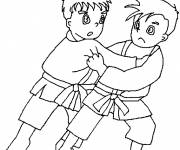 Coloring pages Judo for children