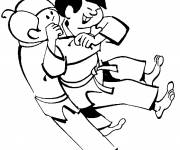 Coloring pages Judo for kids