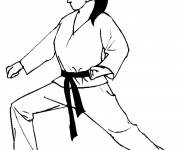 Coloring pages Judo guard