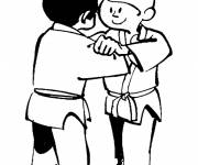Coloring pages Judo in color