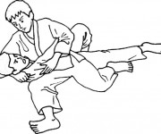 Coloring pages Judo Ippon