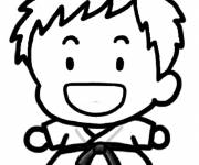 Coloring pages Judo while laughing
