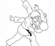 Coloring pages Judo