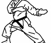Free coloring and drawings Adult karate Coloring page