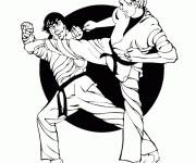 Free coloring and drawings Karate Fight Coloring page