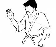 Coloring pages Technical karate typing