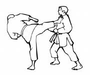 Free coloring and drawings Vector karate Coloring page