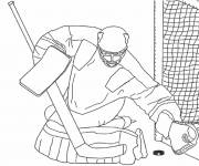 Free coloring and drawings Adult Hockey Goalie Coloring page